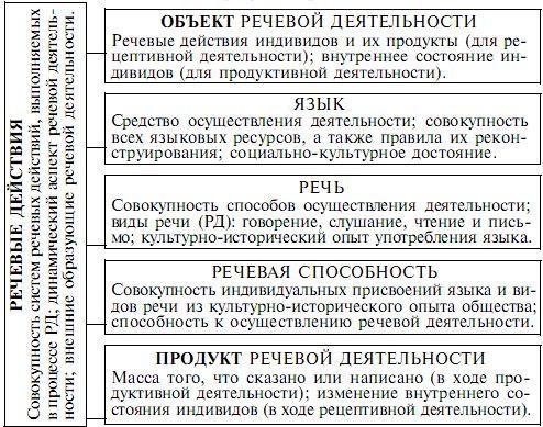 Общая структура речевой деятельности в психолингвистике