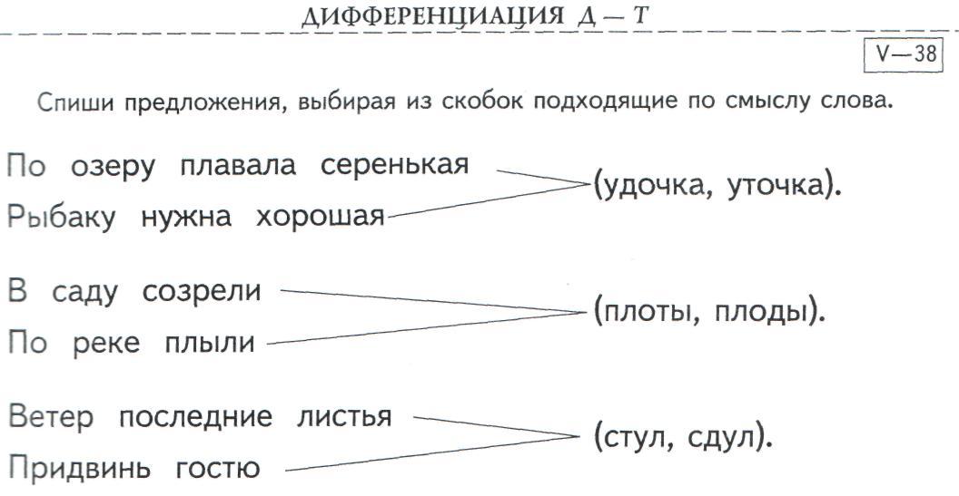 Дифференциация Т в предложениях